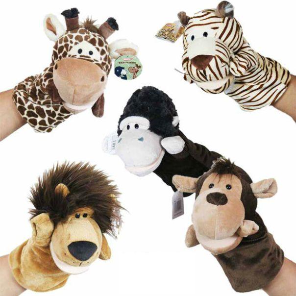 Cartoon_monkey_lion_tiger_giraffe_plush_hand_puppet_toy