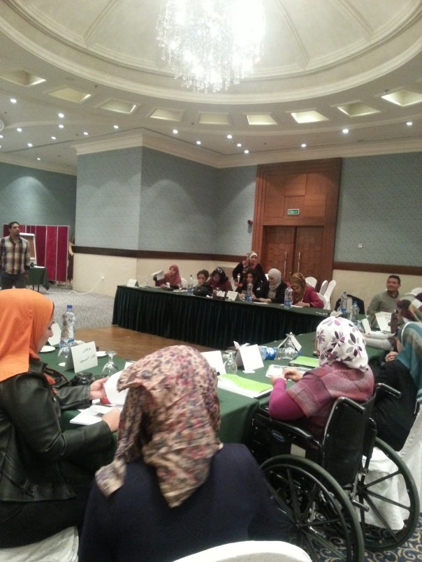 20 Dec 2013. In Jordan.. regional training on political participations & social media for women with disabilities in Palestine.. and Egypt and Jordan